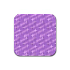 Many Stars, Lilac Rubber Square Coaster (4 pack)