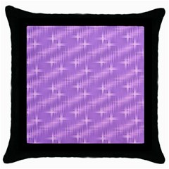 Many Stars, Lilac Throw Pillow Cases (Black)