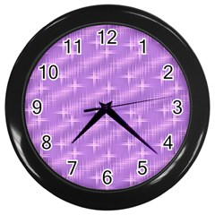 Many Stars, Lilac Wall Clocks (Black)
