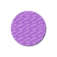 Many Stars, Lilac Rubber Round Coaster (4 pack)