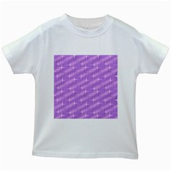 Many Stars, Lilac Kids White T-Shirts