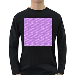 Many Stars, Lilac Long Sleeve Dark T-Shirts