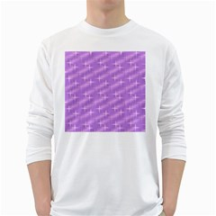 Many Stars, Lilac White Long Sleeve T-Shirts