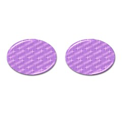 Many Stars, Lilac Cufflinks (Oval)