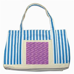 Many Stars, Lilac Striped Blue Tote Bag