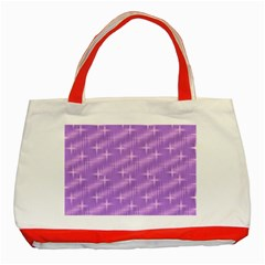 Many Stars, Lilac Classic Tote Bag (Red)