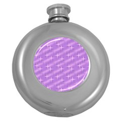 Many Stars, Lilac Round Hip Flask (5 oz)