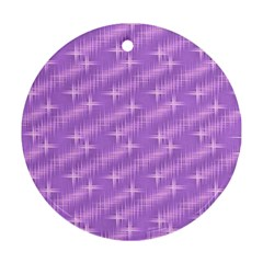Many Stars, Lilac Round Ornament (Two Sides)