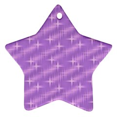 Many Stars, Lilac Star Ornament (Two Sides)