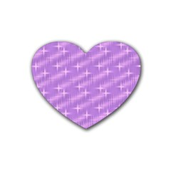 Many Stars, Lilac Heart Coaster (4 pack)