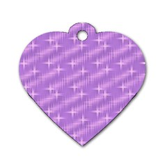 Many Stars, Lilac Dog Tag Heart (Two Sides)