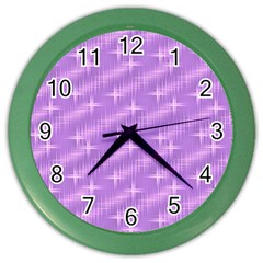 Many Stars, Lilac Color Wall Clocks