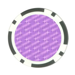 Many Stars, Lilac Poker Chip Card Guards