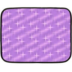 Many Stars, Lilac Double Sided Fleece Blanket (Mini)