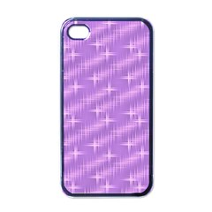 Many Stars, Lilac Apple iPhone 4 Case (Black)