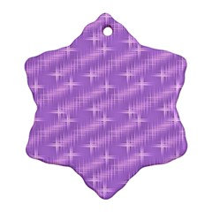 Many Stars, Lilac Snowflake Ornament (2-Side)