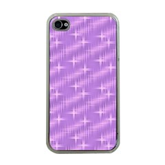 Many Stars, Lilac Apple iPhone 4 Case (Clear)