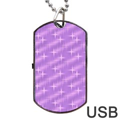 Many Stars, Lilac Dog Tag USB Flash (One Side)