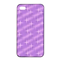 Many Stars, Lilac Apple iPhone 4/4s Seamless Case (Black)