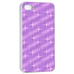 Many Stars, Lilac Apple iPhone 4/4s Seamless Case (White)