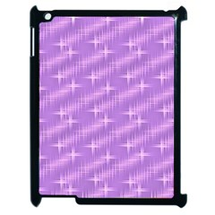 Many Stars, Lilac Apple iPad 2 Case (Black)