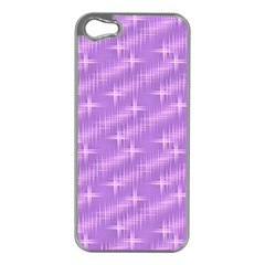 Many Stars, Lilac Apple iPhone 5 Case (Silver)