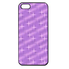 Many Stars, Lilac Apple iPhone 5 Seamless Case (Black)