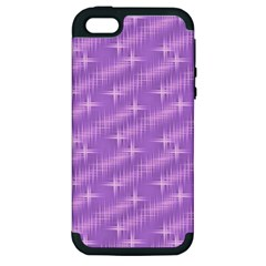 Many Stars, Lilac Apple iPhone 5 Hardshell Case (PC+Silicone)