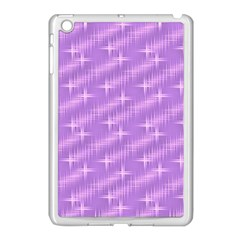 Many Stars, Lilac Apple iPad Mini Case (White)