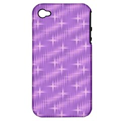 Many Stars, Lilac Apple iPhone 4/4S Hardshell Case (PC+Silicone)