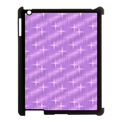 Many Stars, Lilac Apple iPad 3/4 Case (Black)