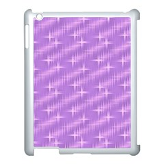 Many Stars, Lilac Apple iPad 3/4 Case (White)