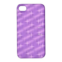 Many Stars, Lilac Apple iPhone 4/4S Hardshell Case with Stand