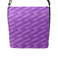 Many Stars, Lilac Flap Messenger Bag (L)