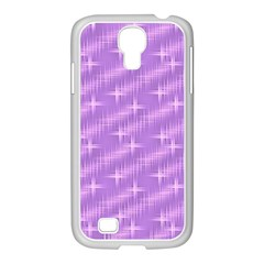 Many Stars, Lilac Samsung GALAXY S4 I9500/ I9505 Case (White)