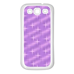 Many Stars, Lilac Samsung Galaxy S3 Back Case (White)