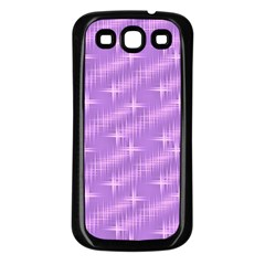 Many Stars, Lilac Samsung Galaxy S3 Back Case (Black)