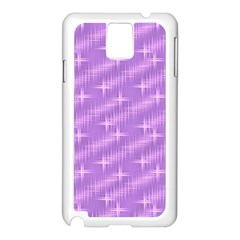 Many Stars, Lilac Samsung Galaxy Note 3 N9005 Case (White)