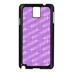Many Stars, Lilac Samsung Galaxy Note 3 N9005 Case (Black)
