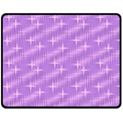 Many Stars, Lilac Double Sided Fleece Blanket (Medium)