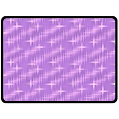 Many Stars, Lilac Double Sided Fleece Blanket (Large)