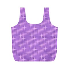 Many Stars, Lilac Full Print Recycle Bags (M)