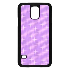 Many Stars, Lilac Samsung Galaxy S5 Case (Black)
