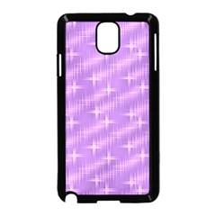 Many Stars, Lilac Samsung Galaxy Note 3 Neo Hardshell Case (Black)