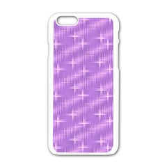 Many Stars, Lilac Apple iPhone 6 White Enamel Case