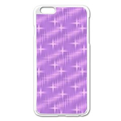 Many Stars, Lilac Apple iPhone 6 Plus Enamel White Case