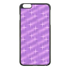 Many Stars, Lilac Apple iPhone 6 Plus Black Enamel Case