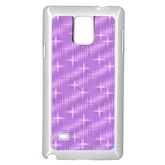 Many Stars, Lilac Samsung Galaxy Note 4 Case (White)