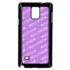 Many Stars, Lilac Samsung Galaxy Note 4 Case (Black)