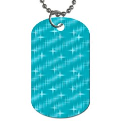 Many Stars,aqua Dog Tag (two Sides)
